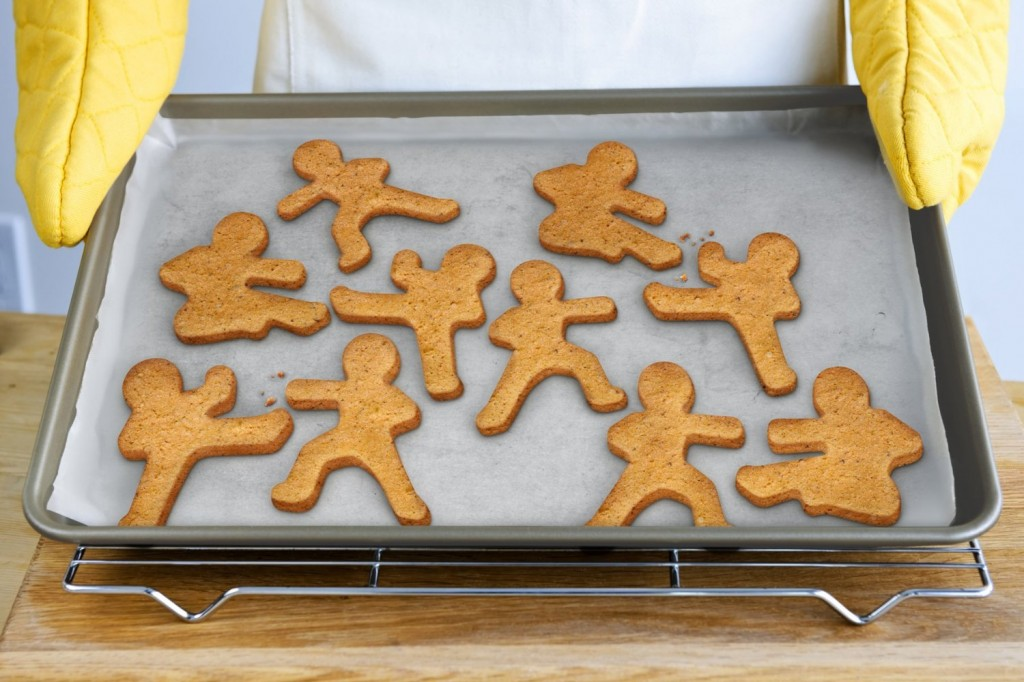 gingerbread ninja men, gingerbread ninja cookie cutter, gingerbread men cutter