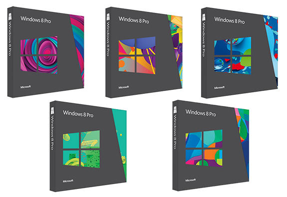 windows 8 boxes, windows 8 pro boxes, windows software