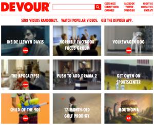 native advertising example, devour native advertising, devour video website, devour video ad