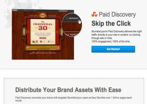 native ad examples, stumbleupon paid discovery example, stumbleupon