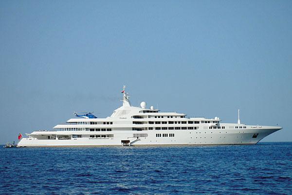 Shiek Mohammed bin Rashid Al Maktoum Yacht, Shiek billionaires yacht, Arab shiek mega yacht